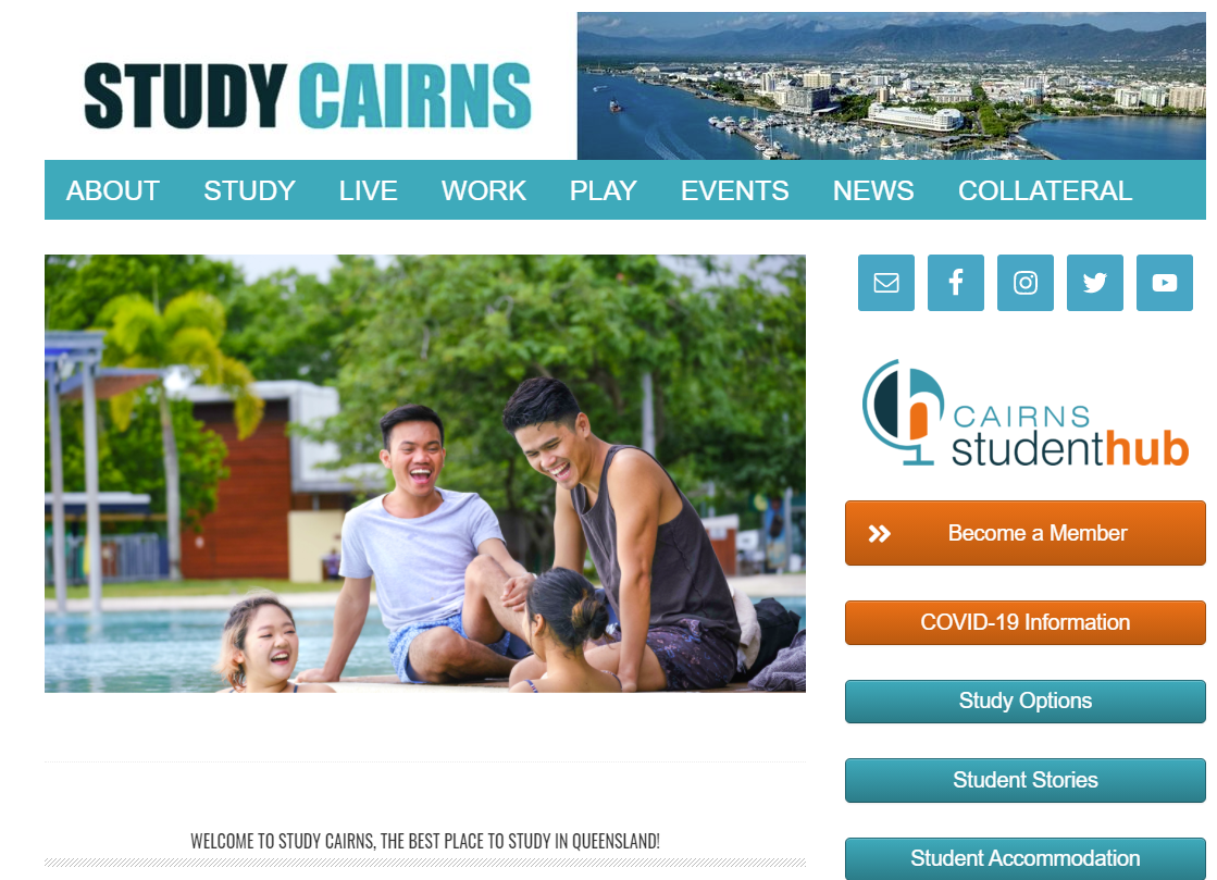 Study Cairns - digital content manager