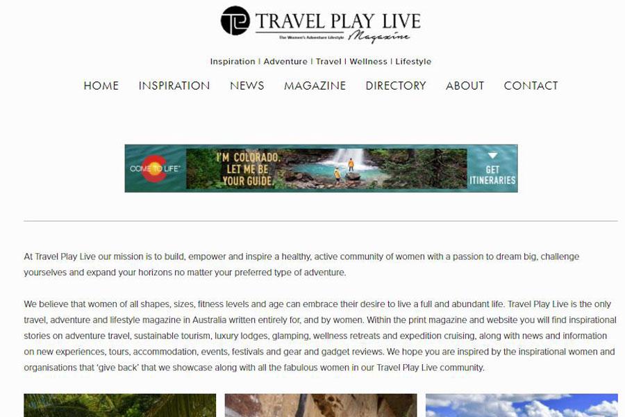 Travel Play Live - digital editor